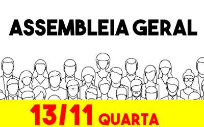 13/11 – ASSEMBLEIA GERAL